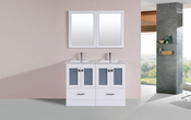 "48"" Hermosa White Double Modern Bathroom Vanity with Integrated Sinks<br>by Pacific Collection"