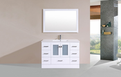 "48"" Hermosa White Single Modern Bathroom Vanity with Integrated Sink<br>by Pacific Collection"