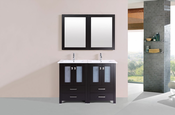 "48"" Newport Espresso Double Modern Bathroom Vanity with Integrated Sinks<br>by Pacific Collection"