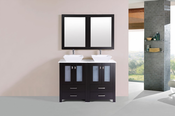 "48"" Newport Espresso Double Modern Bathroom Vanity with Vessel Sinks<br>by Pacific Collection"