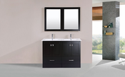 "48"" Redondo Espresso Double Modern Bathroom Vanity with Integrated Sinks<br>by Pacific Collection"