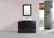 "48"" Redondo Espresso Single Modern Bathroom Vanity with 2 Side Cabinets and Integrated Sink<br>by Pacific Collection"