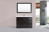 "48"" Redondo Espresso Single Modern Bathroom Vanity with Integrated Sink<br>by Pacific Collection"