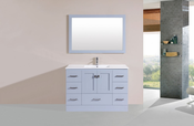 "48"" Redondo Gray Single Modern Bathroom Vanity with Integrated Sink<br>by Pacific Collection"