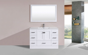 "48"" Redondo White Single Modern Bathroom Vanity with Integrated Sink<br>by Pacific Collection"