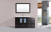 "60"" Hermosa Espresso Single Modern Bathroom Vanity with Side Cabinet and Integrated Sink<br>by Pacific Collection"