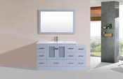 "60"" Hermosa Gray Single Modern Bathroom Vanity with Side Cabinet and Integrated Sink<br>by Pacific Collection"