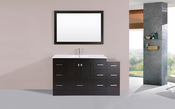 "60"" Redondo Espresso Single Modern Bathroom Vanity with Side Cabinet and Integrated Sink<br>by Pacific Collection"