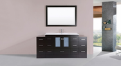 "72"" Hermosa Espresso Single Modern Bathroom Vanity with 2 Side Cabinets and Integrated Sink<br>by Pacific Collection"