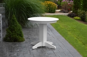 """A & L Furniture - 33"""" Round Dining Table - 4140 - White Poly"""