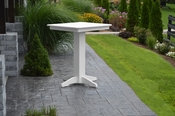"""A & L Furniture - 33"""" Square Bar Table - 4190 - White Poly"""