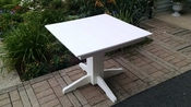 """A & L Furniture - 33"""" Square Dining Table - 4150 - White Poly"""