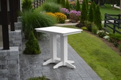 A & L Furniture - 4' Bar Table - 5100 - White Poly