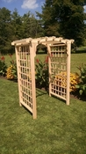 A & L Furniture - 4' Cambridge Arbor - 1404C - Western Red Cedar