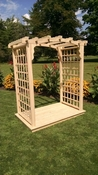 A & L Furniture - 4' Cambridge Arbor & Deck - 1420C - Western Red Cedar