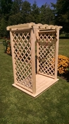 A & L Furniture - 4' Covington Arbor & Deck - 1419C - Western Red Cedar