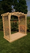 A & L Furniture - 4' Jamesport Arbor & Deck - 1421C - Western Red Cedar