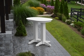 A & L Furniture - 4' Oval Bar Table - 5110 - White Poly