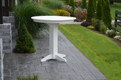 """A & L Furniture - 44"""" Round Bar Table - 4181 - White Poly"""