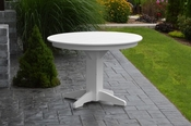 """A & L Furniture - 44"""" Round Dining Table - 4141 - White Poly"""