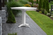 """A & L Furniture - 44"""" Square Bar Table - 4191 - White Poly"""
