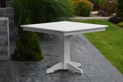 """A & L Furniture - 44"""" Square Dining Table - 4151 - White Poly"""