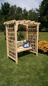 A & L Furniture - 6' Cambridge Arbor & Swing - 1616C - Western Red Cedar