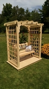 A & L Furniture - 5' Cambridge Arbor w/ Deck & Swing - 1532C - Western Red Cedar