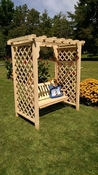 A & L Furniture - 5' Covington Arbor & Swing - 1515C - Western Red Cedar