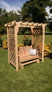 A & L Furniture - 6' Covington Arbor w/ Glider - 1639C - Western Red Cedar