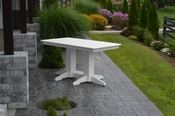 A & L Furniture - 5' Dining Table - 4161 - White Poly