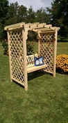 A & L Furniture - 6' Jamesport Arbor & Swing - 1617C - Western Red Cedar