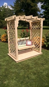 A & L Furniture - 5' Jamesport Arbor w/ Deck & Swing - 1533C - Western Red Cedar