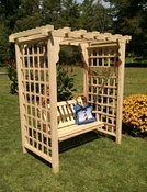 A & L Furniture - 5' Lexington Arbor & Swing - 1514C - Western Red Cedar