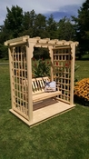 A & L Furniture - 6' Lexington Arbor w/ Deck & Swing - 1630C - Western Red Cedar