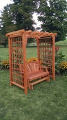 A & L Furniture - 6' Lexington Arbor w/ Glider - 1638C - Western Red Cedar