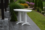 A & L Furniture - 5' Oval Bar Table - 5111 - White Poly