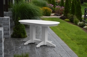 A & L Furniture - 5' Oval Dining Table - 4171 - White Poly