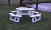 """A & L Furniture - 54"""" Octagon Walk-In Table - 5250 - White Poly"""