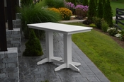 A & L Furniture - 6' Bar Table - 5102 - White Poly
