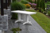 A & L Furniture - 6' Dining Table - 4162 - White Poly
