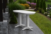 A & L Furniture - 6' Oval Bar Table - 5112 - White Poly