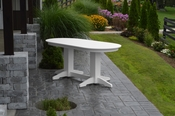 A & L Furniture - 6' Oval Dining Table - 4172 - White Poly
