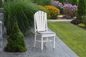 A & L Furniture - Adirondack Dining Chair - 4104 - White Poly