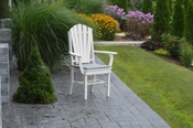 A & L Furniture - Adirondack Dining Chair with Arms - 4114 - White Poly