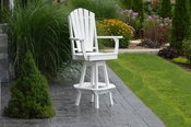 A & L Furniture - Adirondack Swivel Bar Chair withArms - 4124 - White Poly