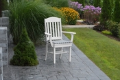 A & L Furniture - Classic Dining Chair with Arms - 4110 - White Poly