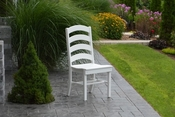 A & L Furniture - Ladderback Dining Chair - 4103 - White Poly