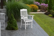 A & L Furniture - Royal Dining Chair with Arms - 4112 - White Poly