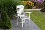 A & L Furniture - Traditional Dining Chair with Arms - 4111 - White Poly